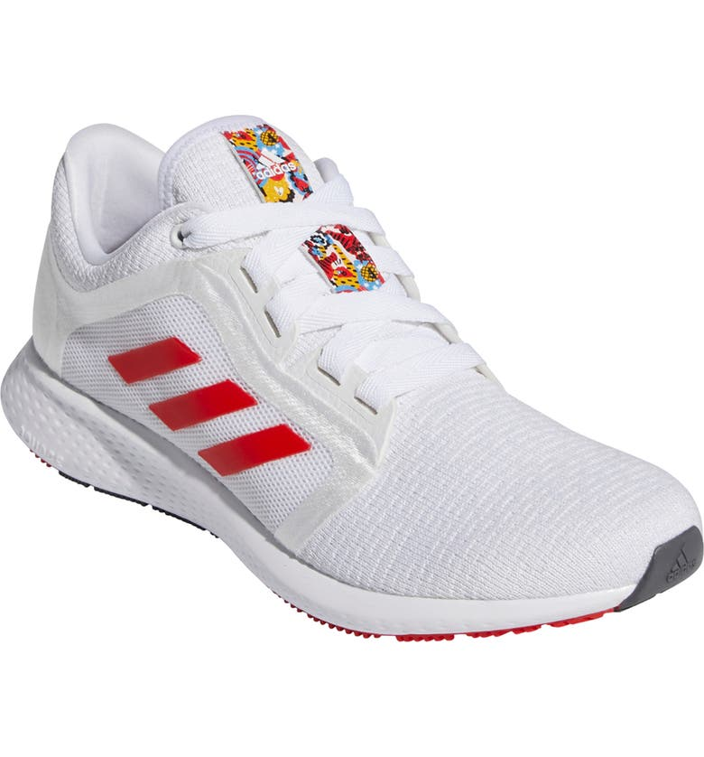 ADIDAS Edge Lux 4 Running Shoe, Main, color, WHITE/ RED/ SILVER