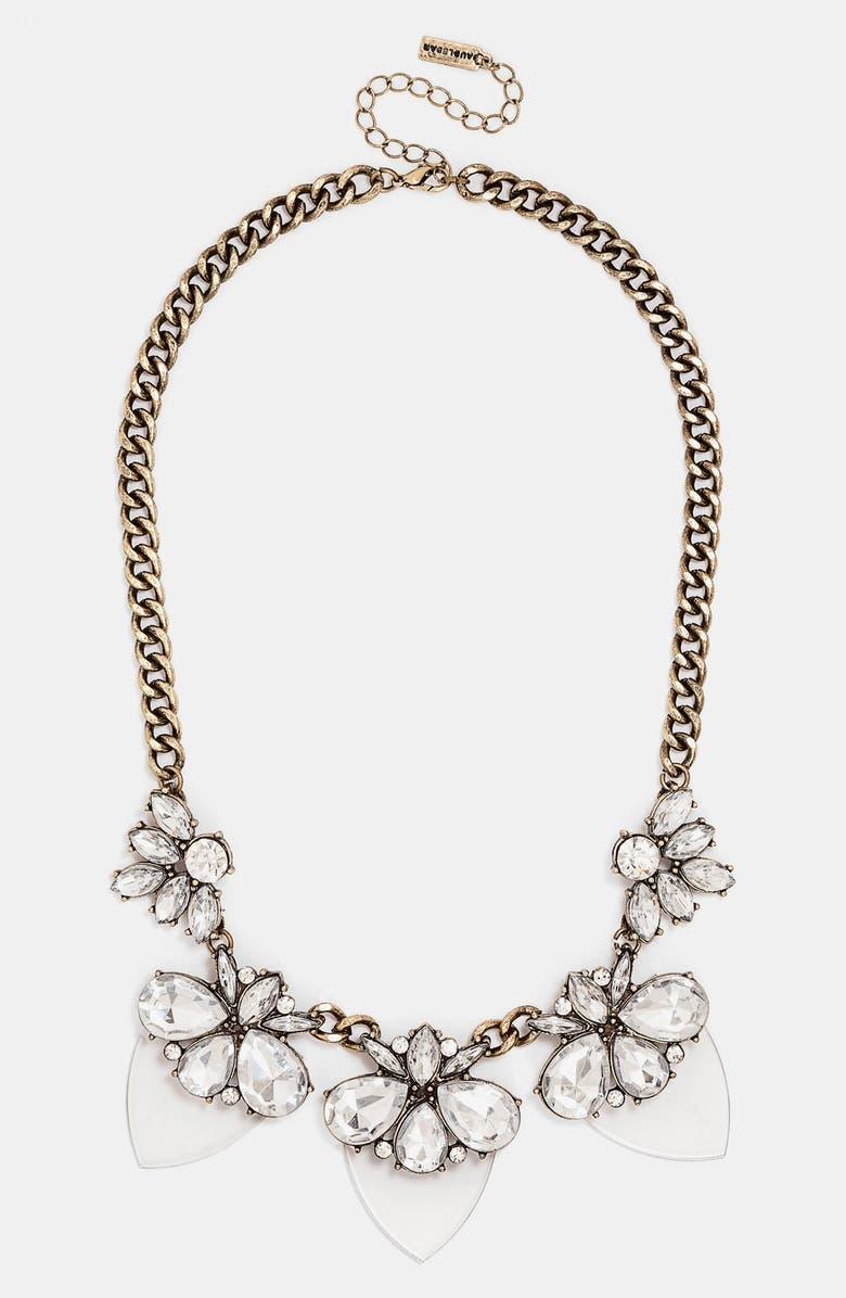 BAUBLEBAR 'Lucite Persimmon' Bib Necklace, Main, color, CLEAR/ GOLD