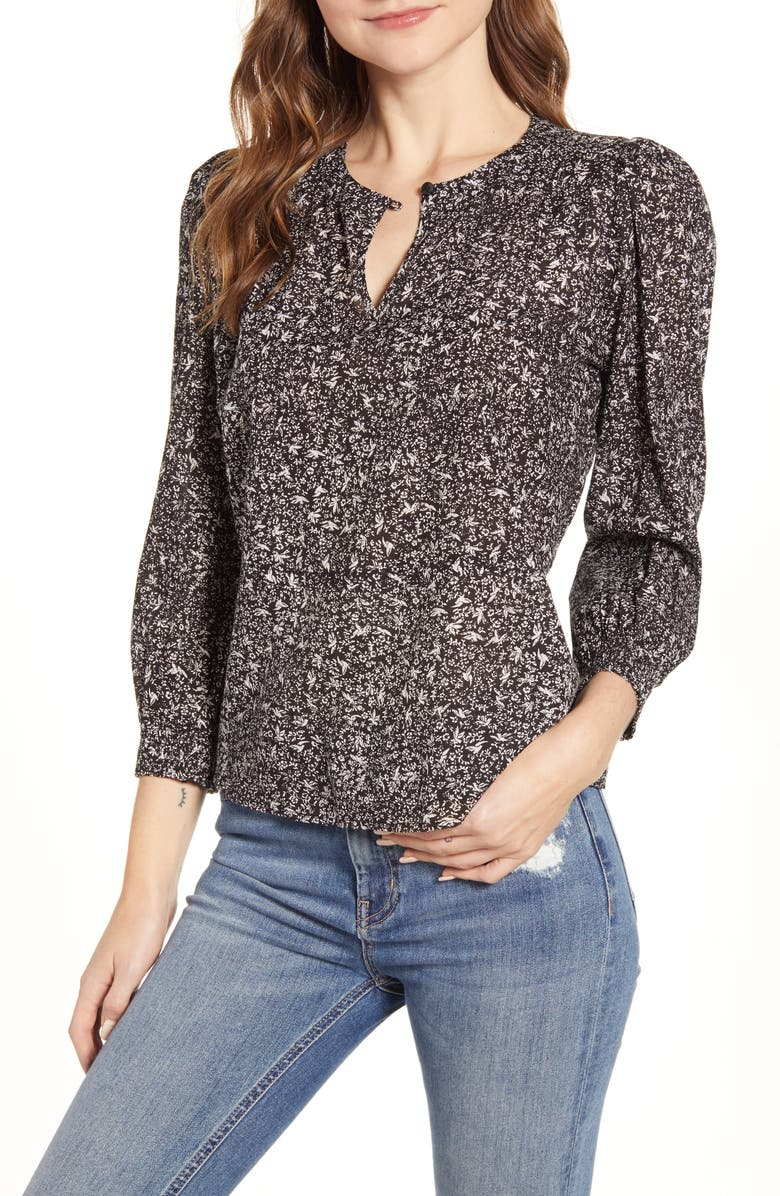 LUCKY BRAND Abby Floral Peplum Top, Main, color, 009