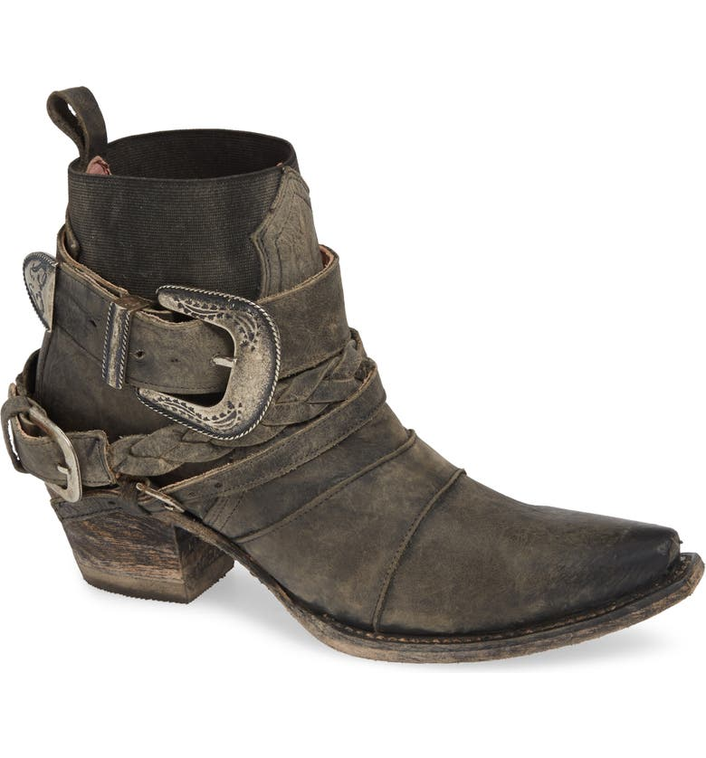 LANE BOOTS x Junk Gypsy HWY 237 Bootie, Main, color, BLACK LEATHER