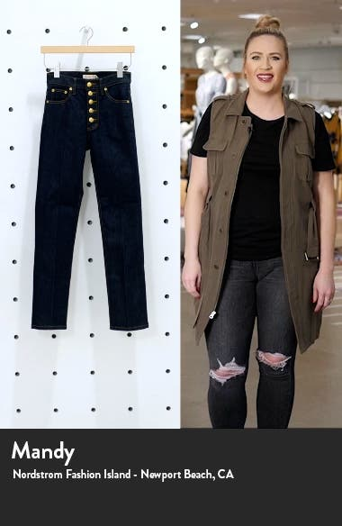 Button Fly Crop Jeans, sales video thumbnail