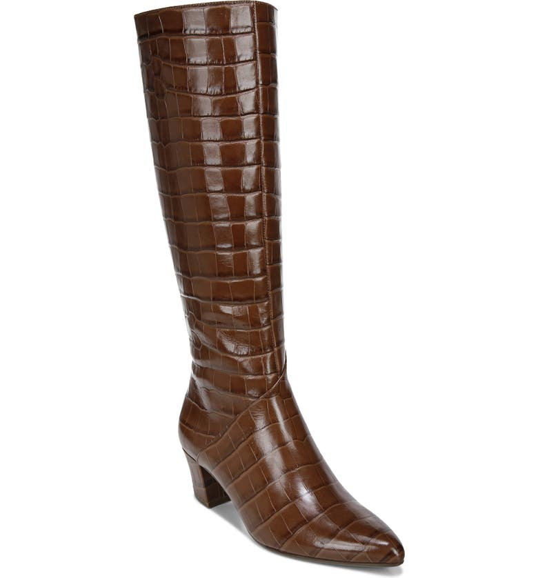 NATURALIZER Melanie Knee High Boot, Main, color, LODGE BROWN LEATHER
