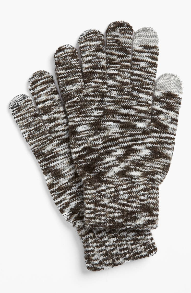 DAVID & YOUNG Rainbow Knit Tech-Friendly Gloves, Main, color, 001