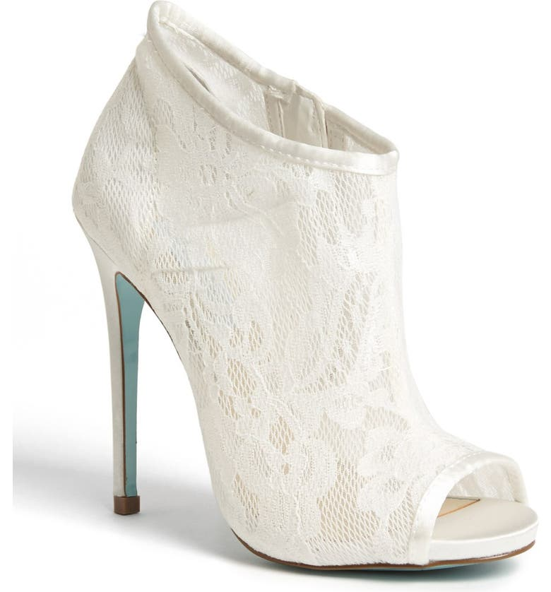 BETSEY JOHNSON Blue by Betsey Johnson 'RSVP' Bootie, Main, color, IVORY