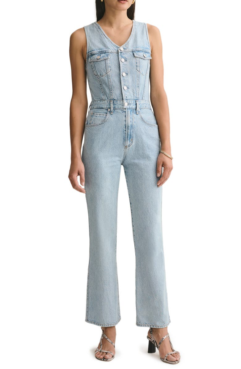 AGOLDE Fitted Sleeveless Denim Jumpsuit, Main, color, 494