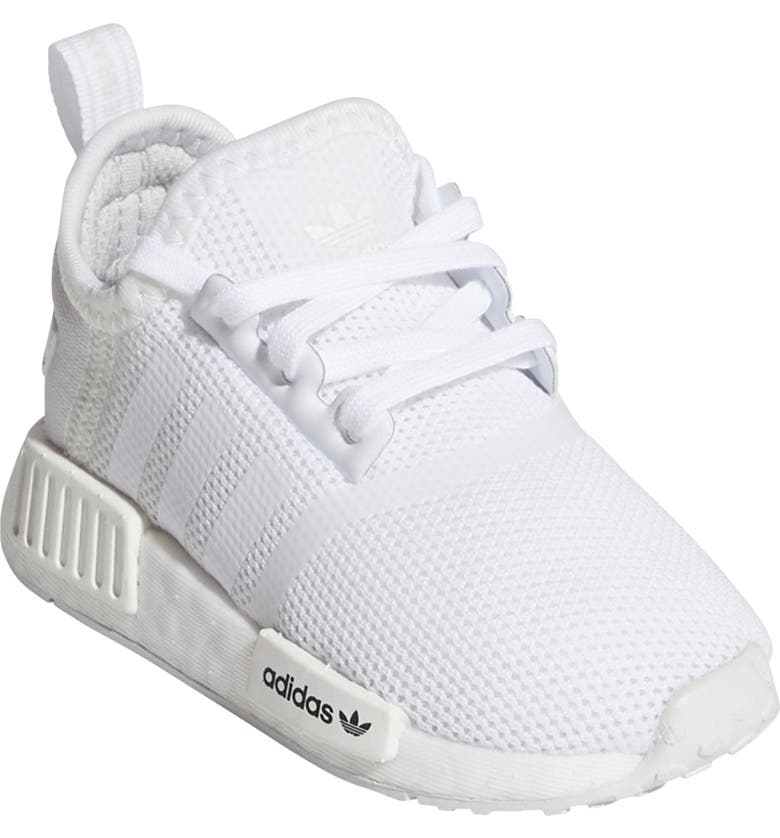 ADIDAS NMD R1 Sneaker, Main, color, WHITE/WHITE