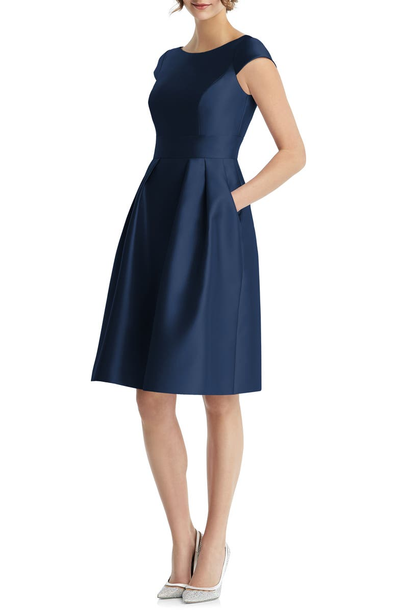 ALFRED SUNG Cap Sleeve Cocktail Dress, Main, color, 410