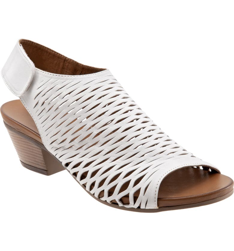BUENO Lacey Slingback Sandal, Main, color, WHITE LEATHER