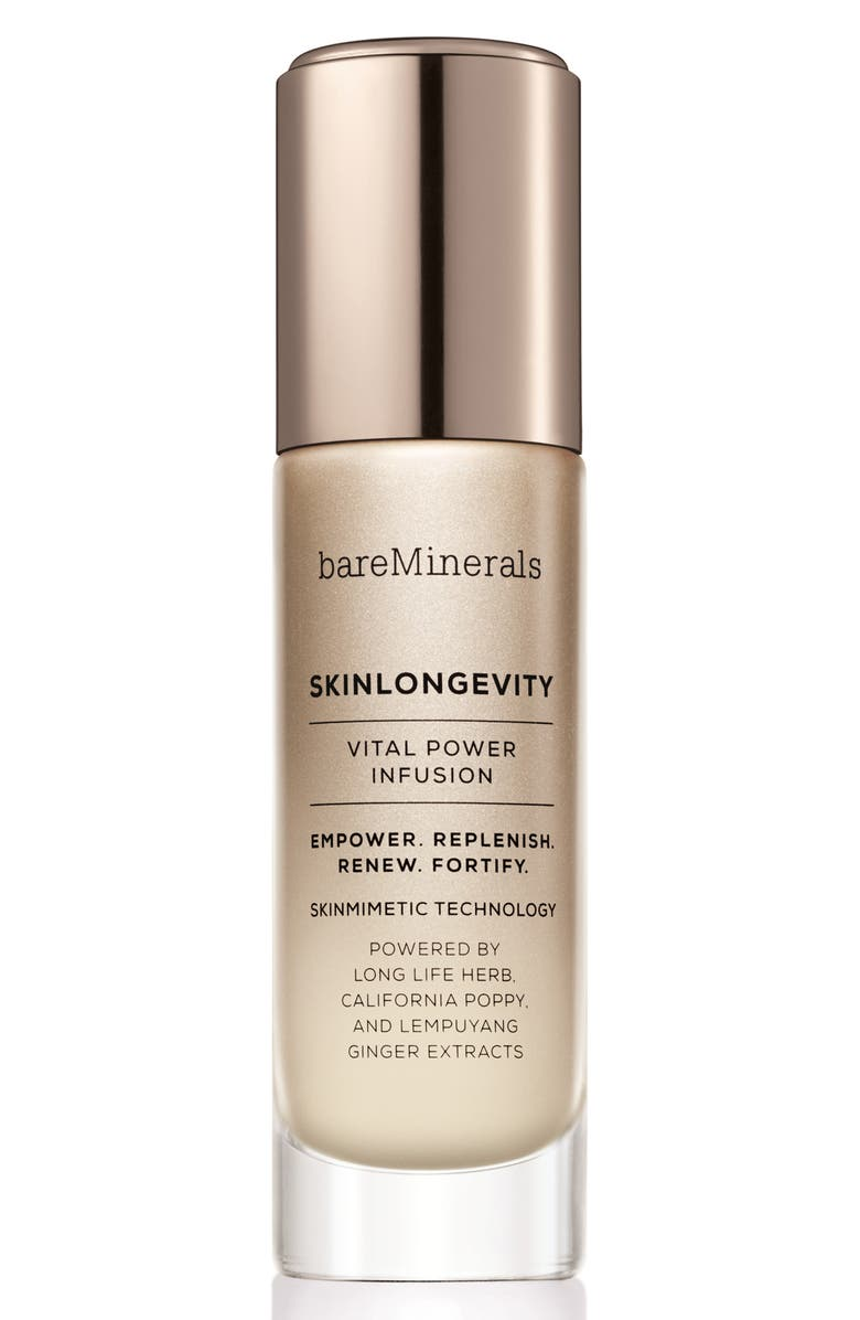 BAREMINERALS<SUP>®</SUP> SKINLONGEVITY<sup>™</sup> Vital Power Infusion Serum, Main, color, 000