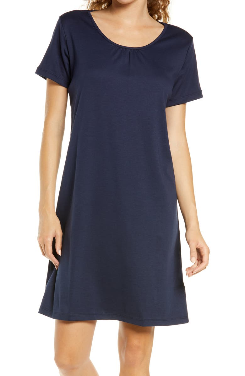 L.L.BEAN Supima<sup>®</sup> Cotton Nightgown, Main, color, CLASSIC NAVY