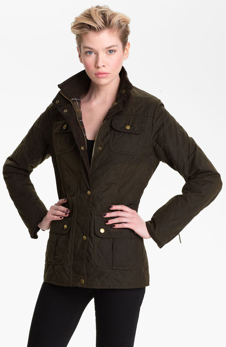 BARBOUR Quilted Utility Jacket, Main, color, OLIVE