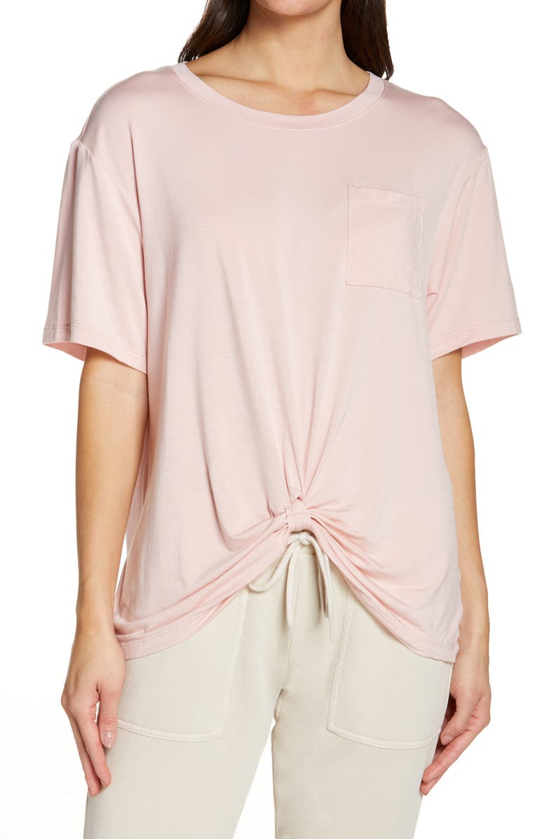 ZELLA Peaceful Knot T-Shirt, Main, color, PINK SILVER