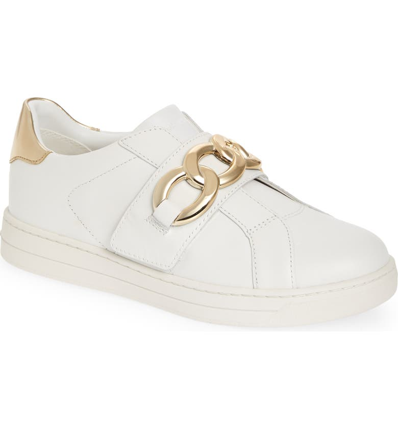 MICHAEL MICHAEL KORS Kenna Sneaker, Main, color, OPTIC WHITE LEATHER