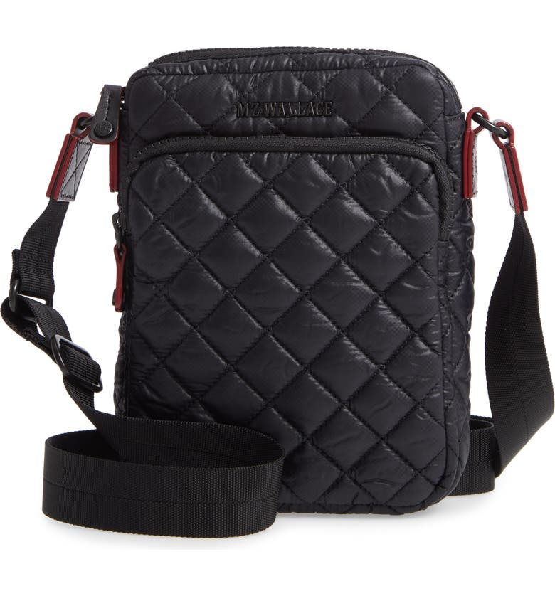 MZ WALLACE Micro Metro Crossbody Bag, Main, color, BLACK