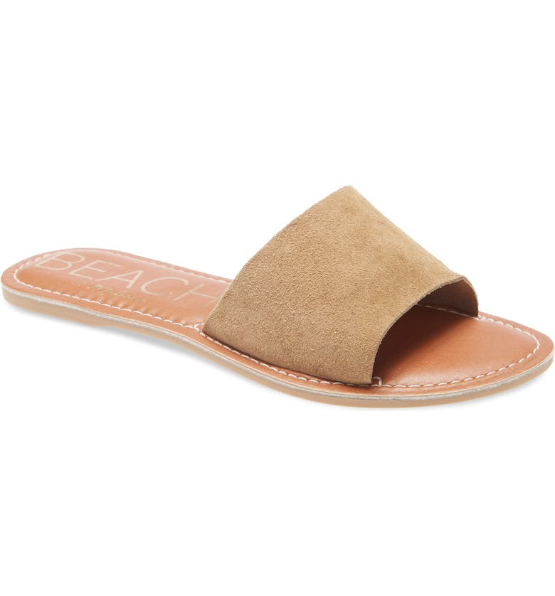 BEACH BY MATISSE Coconuts by Matisse Cabana Slide Sandal, Main, color, NATURAL SUEDE