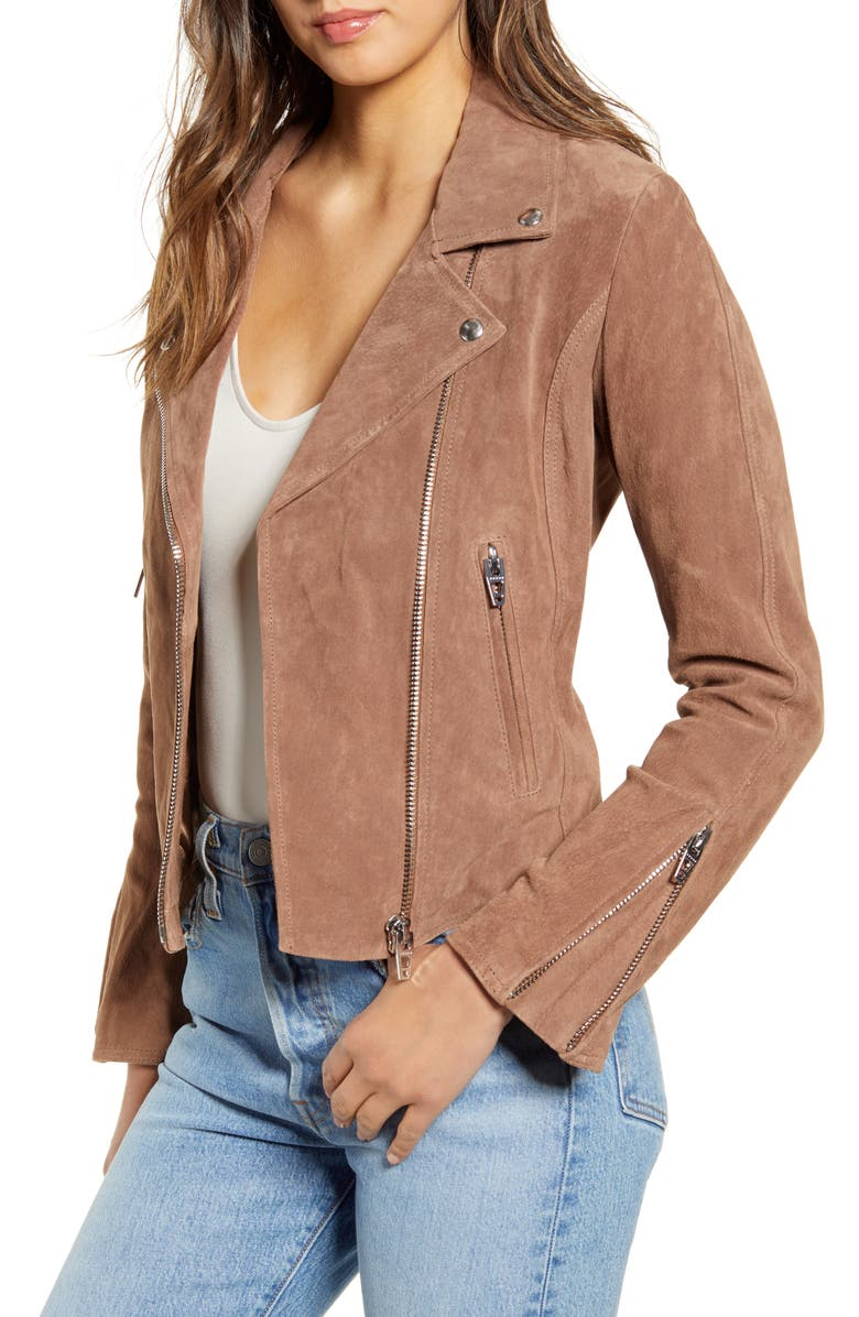 BLANKNYC Next Level Suede Moto Jacket, Main, color, 200