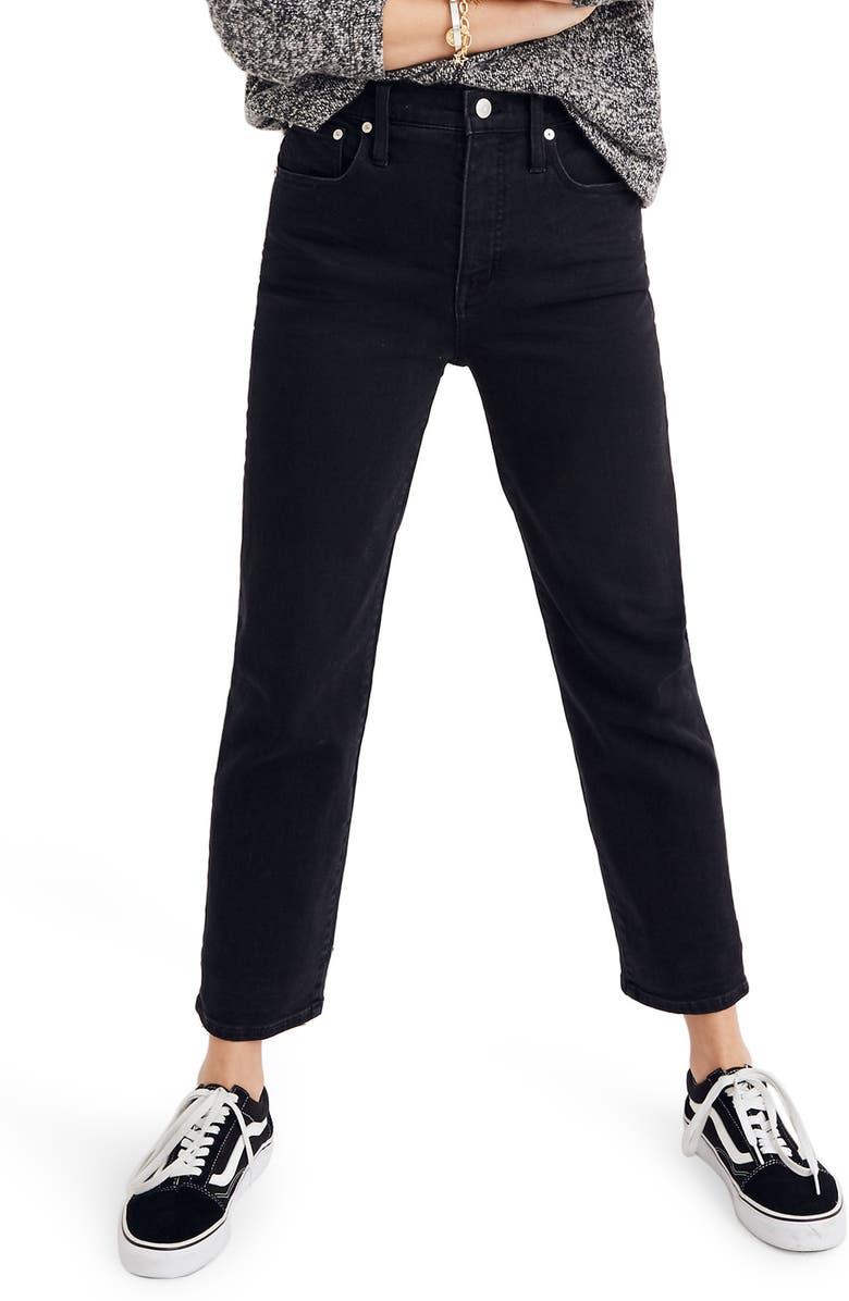 MADEWELL Classic Straight Leg Jeans, Main, color, 001