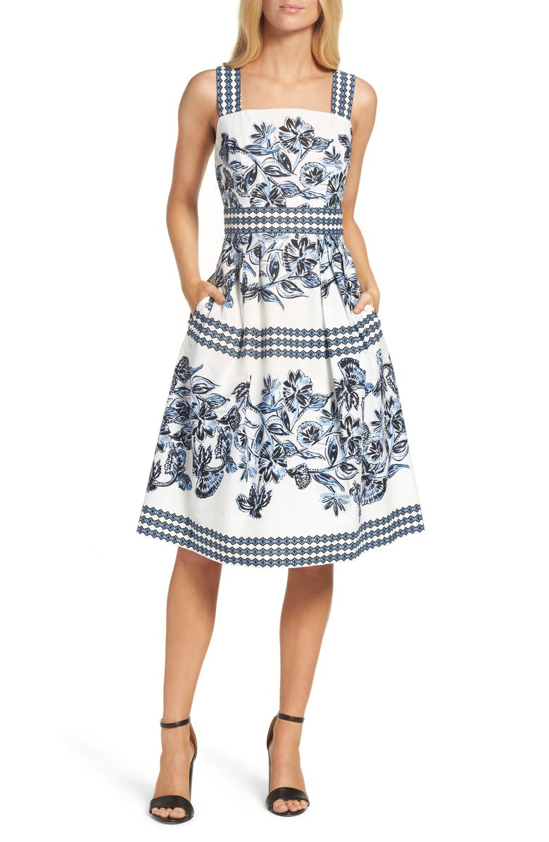 VINCE CAMUTO Fit & Flare Dress, Main, color, 409