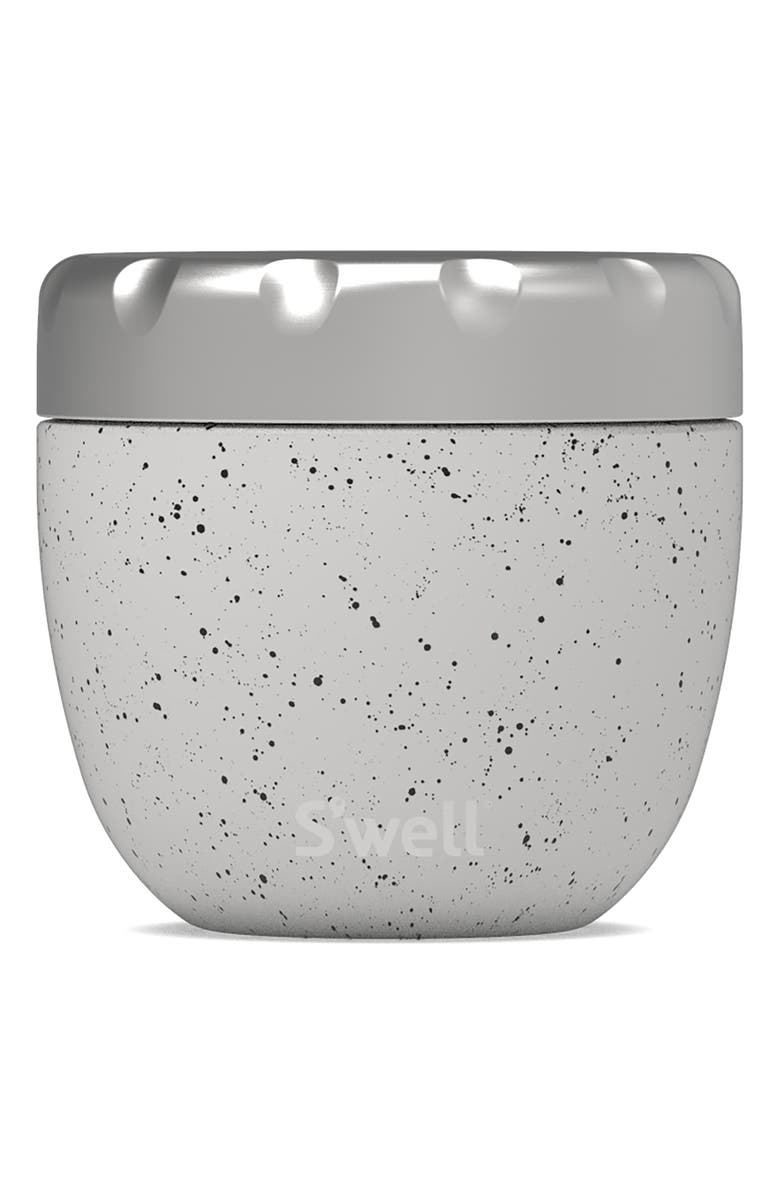S'WELL Speckled Moon Eats<sup>™</sup> Insulated Stainless Steel Bowl & Lid, Main, color, White