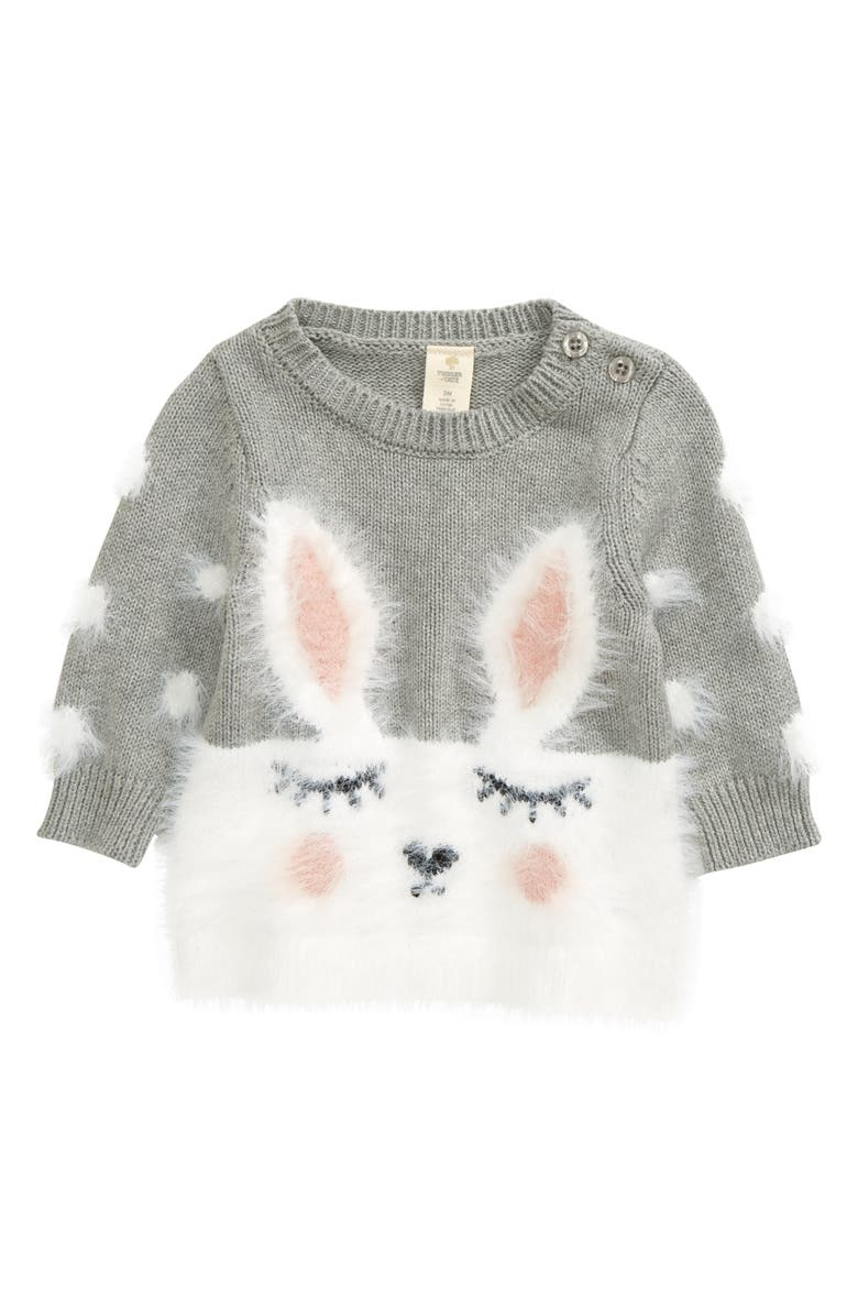 TUCKER + TATE Bunny Sweater, Main, color, 050
