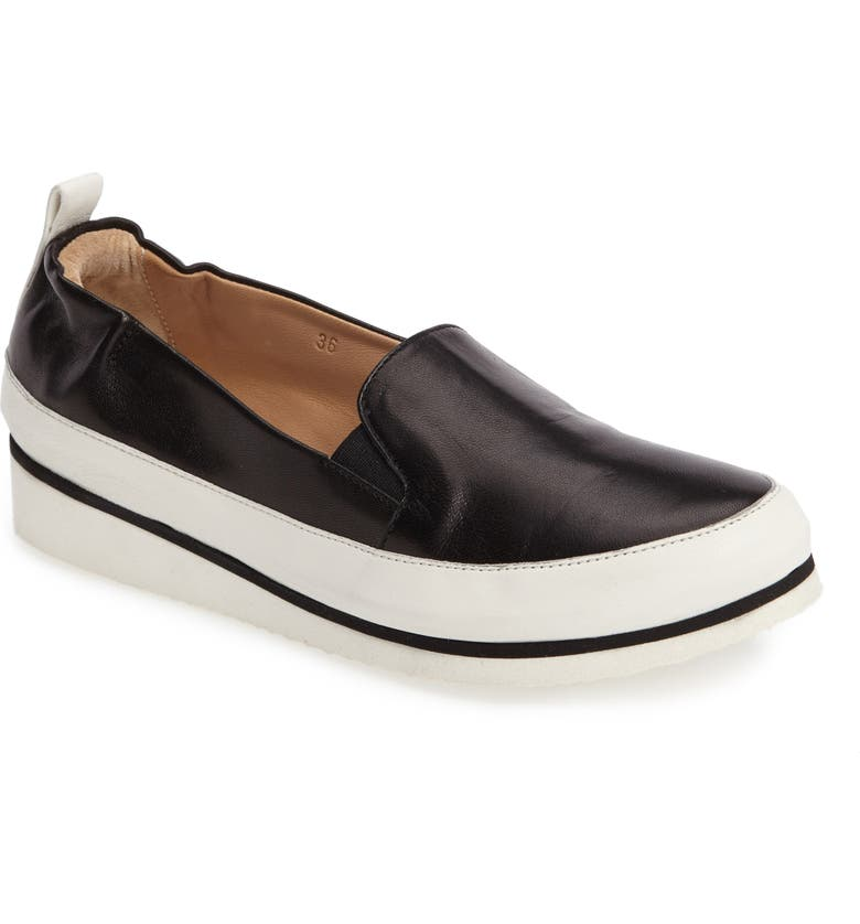 RON WHITE Nell Slip-On Sneaker, Main, color, ONXY LEATHER