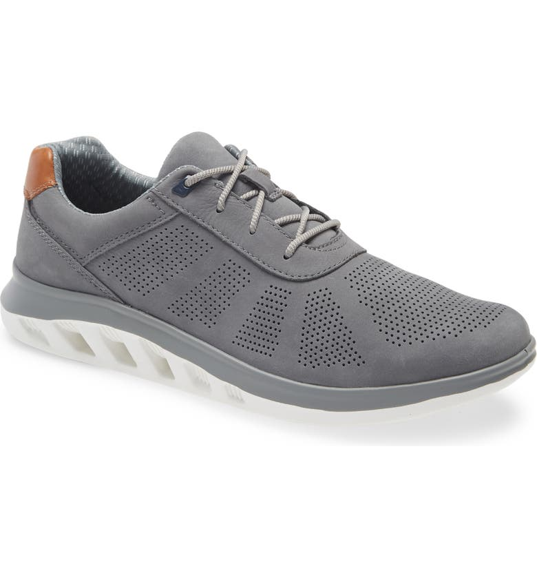 JOHNSTON & MURPHY Activate U-Throat Sneaker, Main, color, GRAY NUBUCK