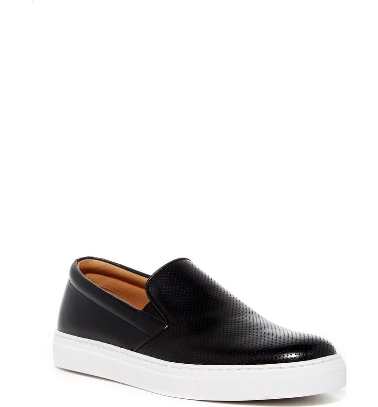 MAGNANNI Rino Perforated Slip-On Sneaker, Main, color, BLACK