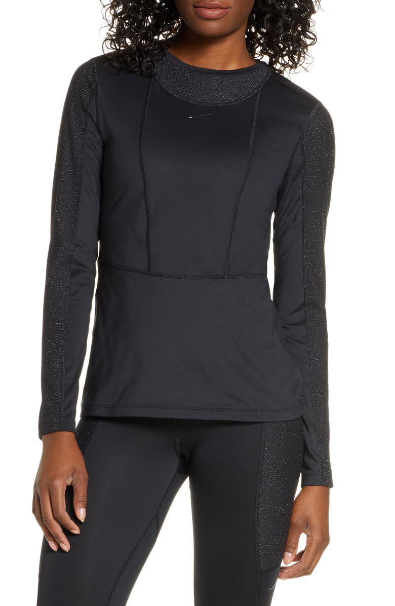 angustia editorial Obediente  Nike Pro Warm Hollywood Long Sleeve Top | Nordstrom