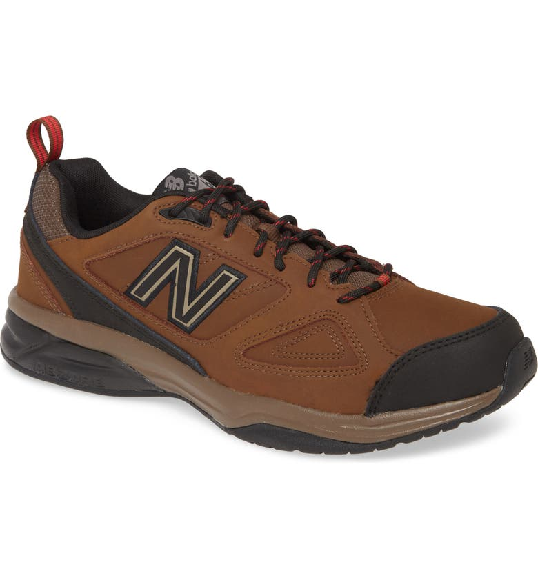 NEW BALANCE 623v3 Water Resistant Leather Training Shoe, Main, color, Brown