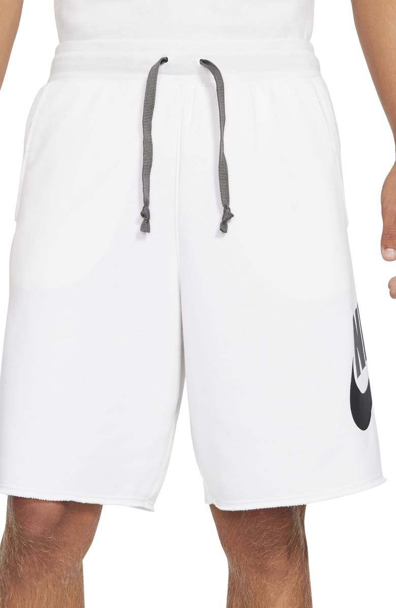 NIKE Sportswear Alumni Shorts, Main, color, WHITE/ IRON GREY/ BLACK