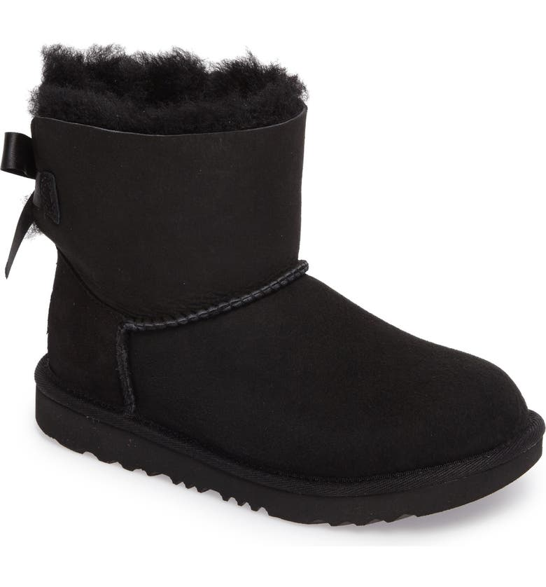 UGG<SUP>®</SUP> Mini Bailey Bow II Water Resistant Bootie, Main, color, BLACK