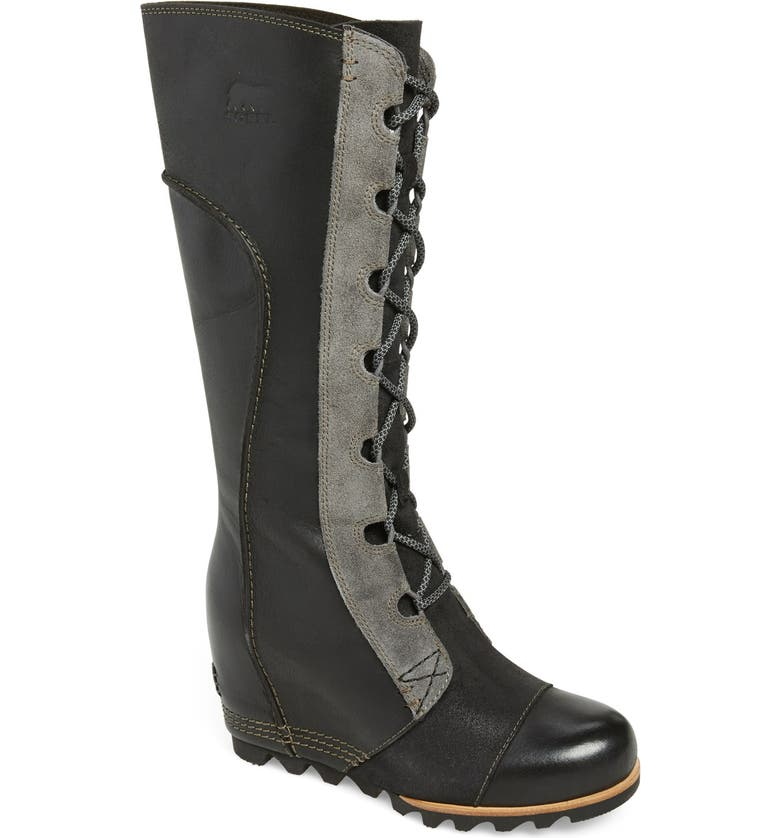 SOREL 'Cate the Great' Waterproof Wedge Boot, Main, color, 010