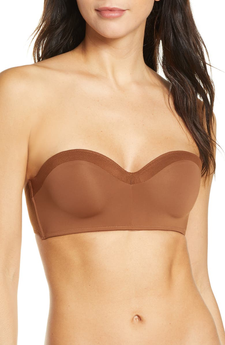 LIVELY The No-Wire Strapless Bra, Main, color, RICH CLAY
