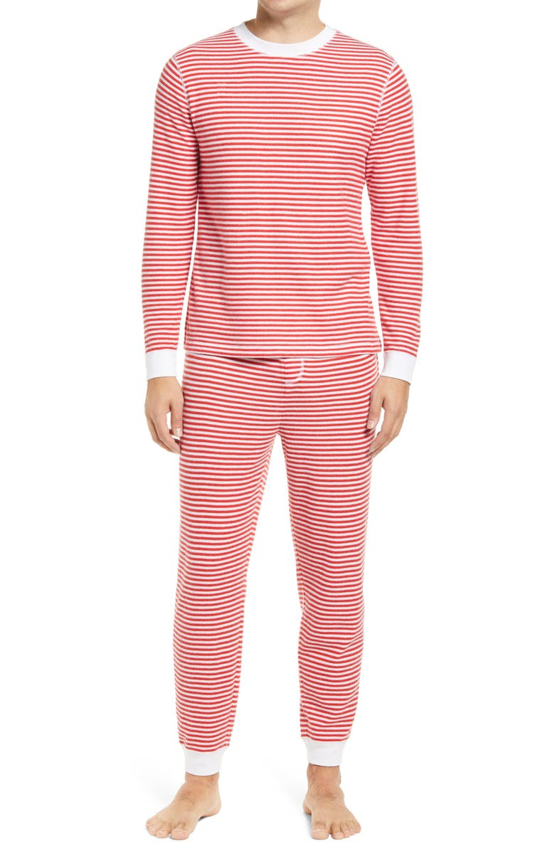 NORDSTROM Fam Jam Two-Piece Thermal Pajamas, Main, color, 610
