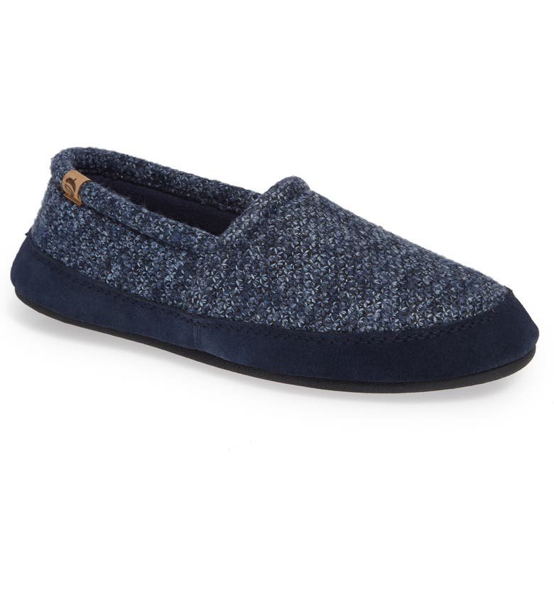 ACORN Moc Slipper, Main, color, NAVY TWEED