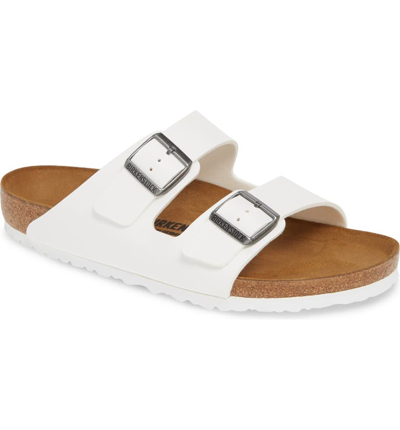 BIRKENSTOCK Arizona Slide Sandal, Main, color, WHITE