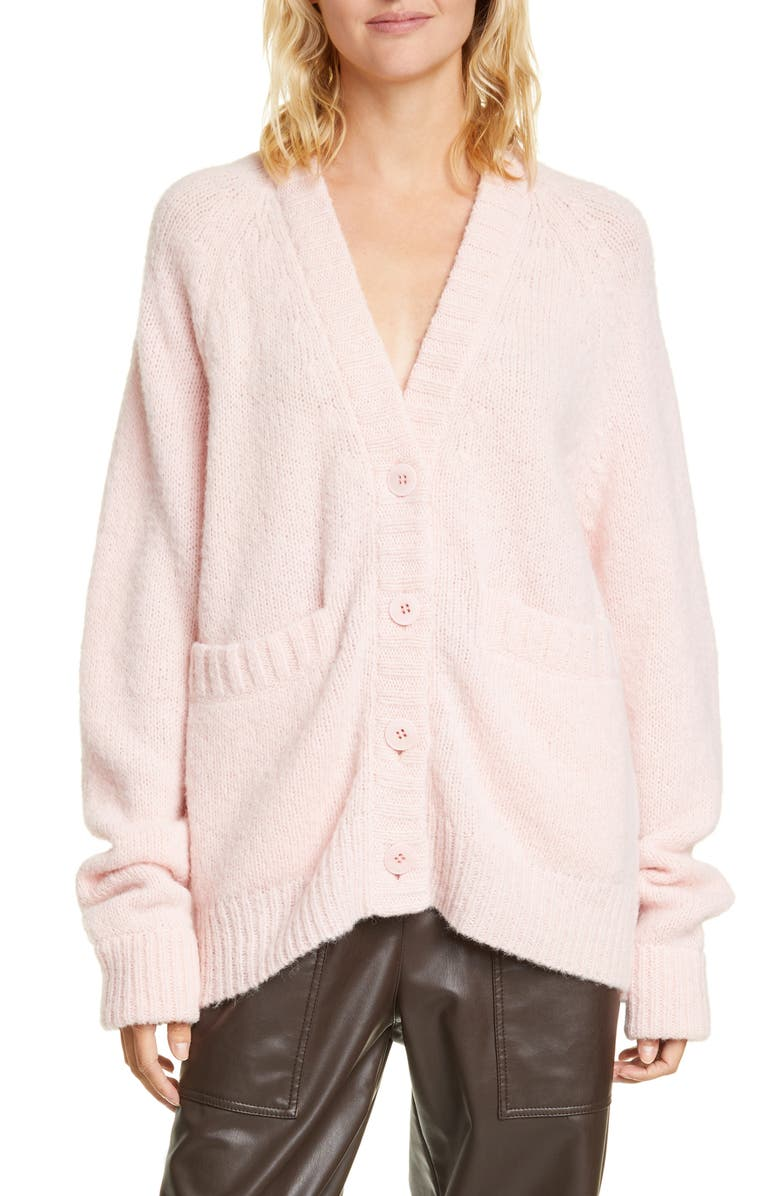TIBI Cozette Oversize Alpaca Blend Cardigan, Main, color, 650