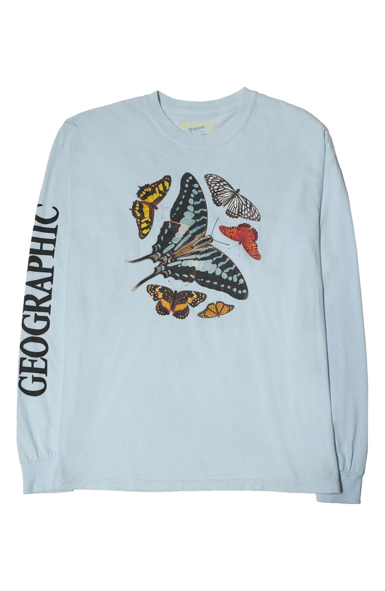 PARKS PROJECT x National Geographic Butterfly Long Sleeve Graphic Tee, Main, color, 452