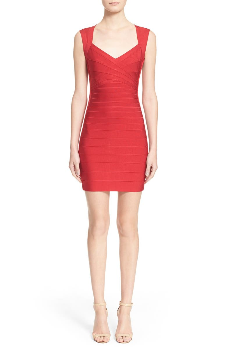 HERVE LEGER Open Back Bandage Dress, Main, color, 616