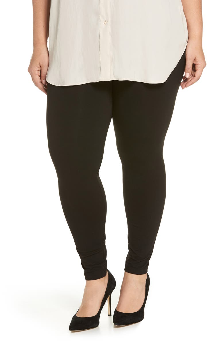 HUE High Rise Leggings, Main, color, BLACK