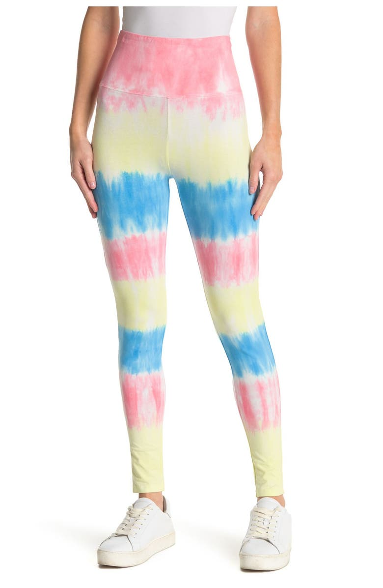 BP. High Rise Leggings, Main, color, BLUE CASHMERE MULTI STRIPE