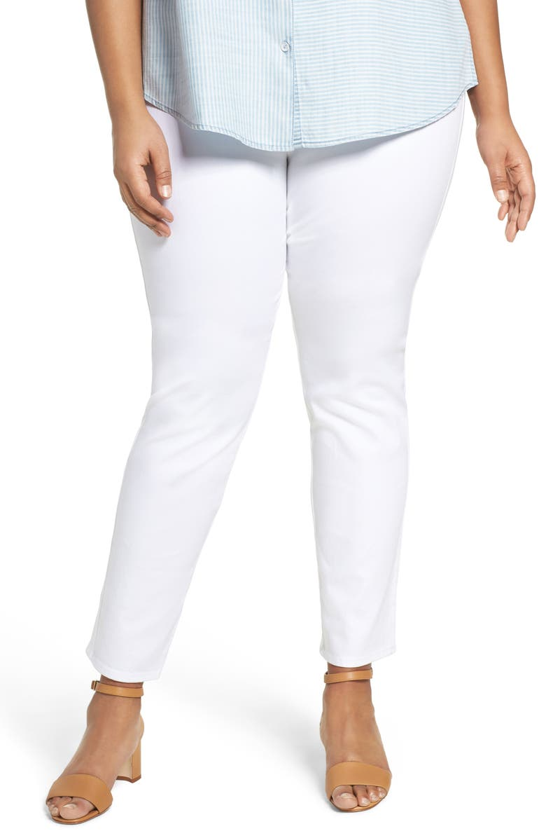 FOXCROFT Nina Slimming High Rise Pull-On Legging Jeans, Main, color, WHITE