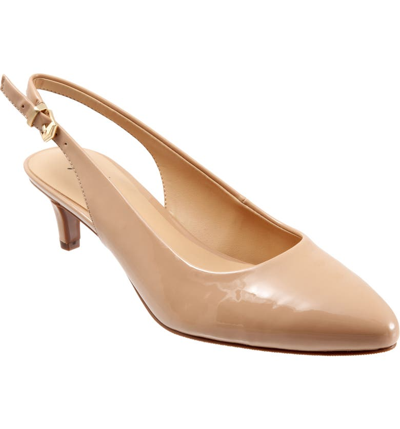 TROTTERS Keely Slingback Pump, Main, color, NUDE FAUX LEATHER