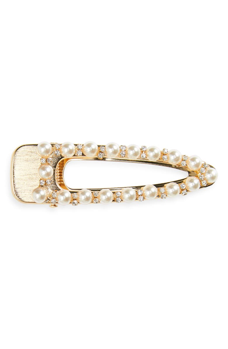 8 OTHER REASONS Belle Imitation Pearl Hair Clip, Main, color, 710