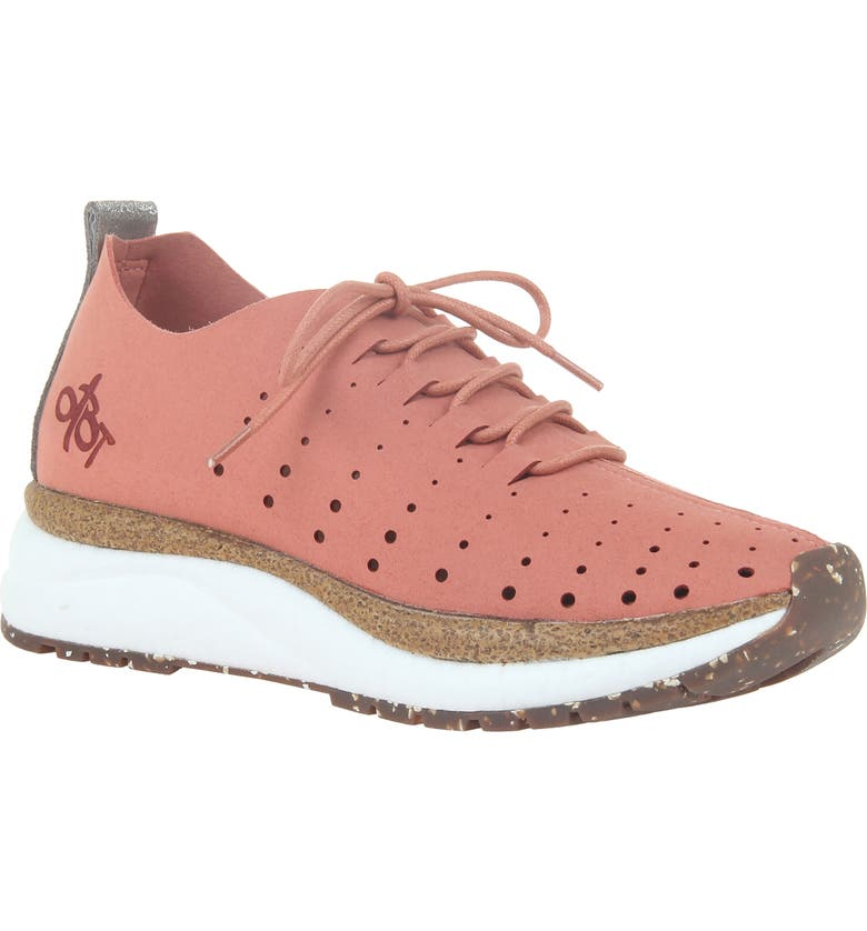 OTBT Alstead Perforated Sneaker, Main, color, CRABAPPLE SUEDE