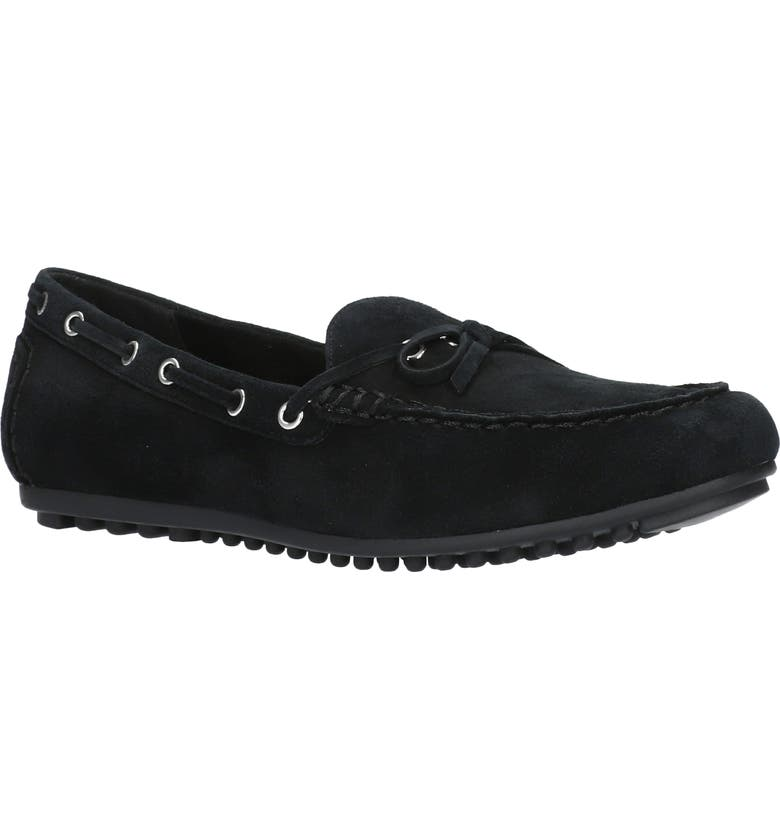 BELLA VITA Scout Moccasin Flat, Main, color, BLACK SUEDE