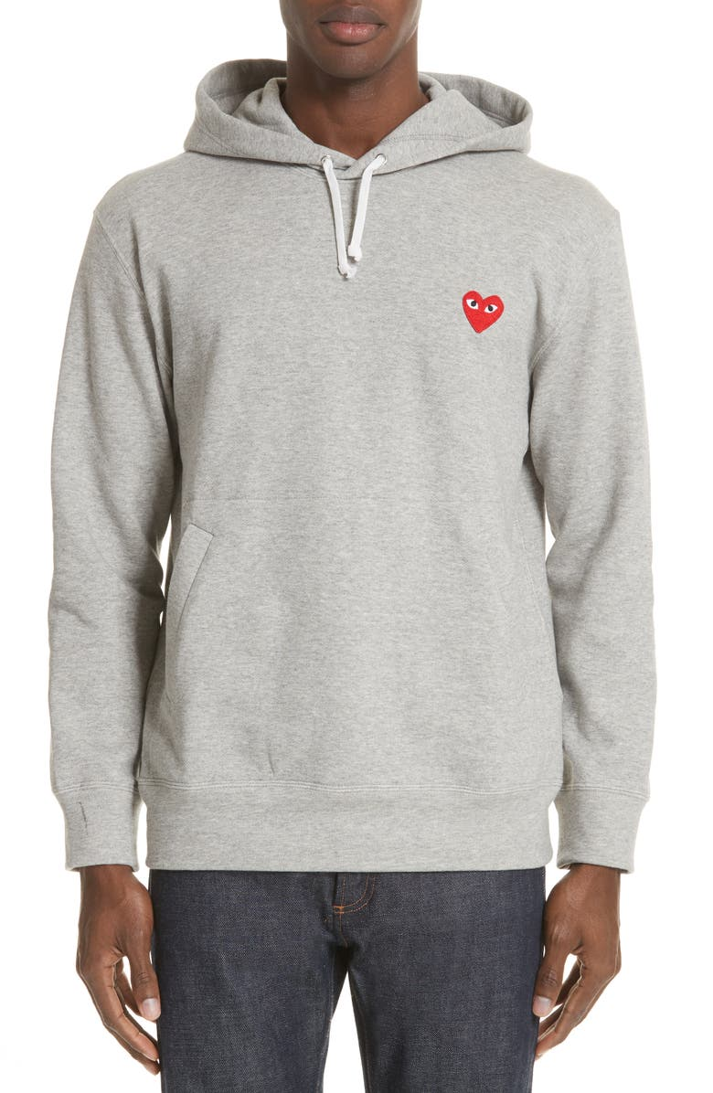 COMME DES GARÇONS PLAY Red Heart Hoodie, Main, color, 020