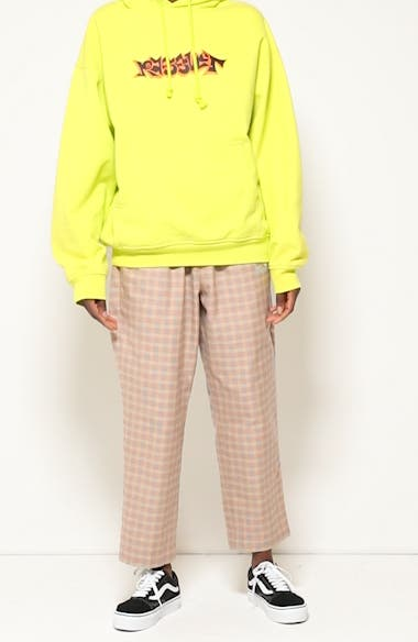 Unisex Logo Embroidered Check Cotton Pants, video thumbnail