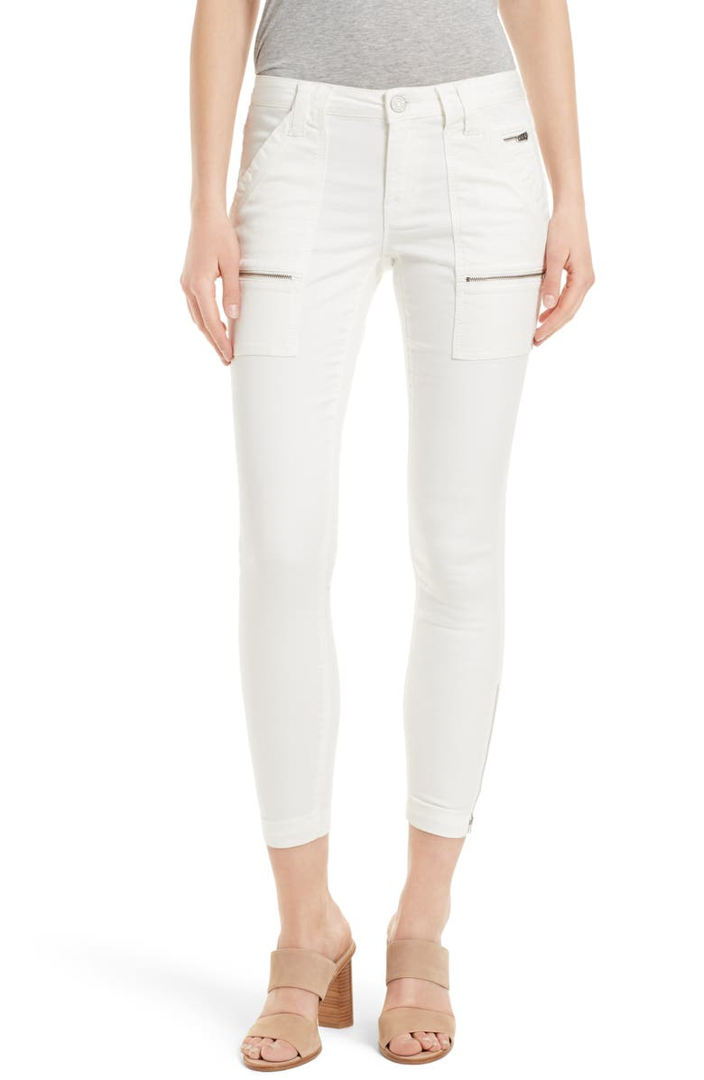 JOIE Park Skinny Pants, Main, color, PORCELAIN