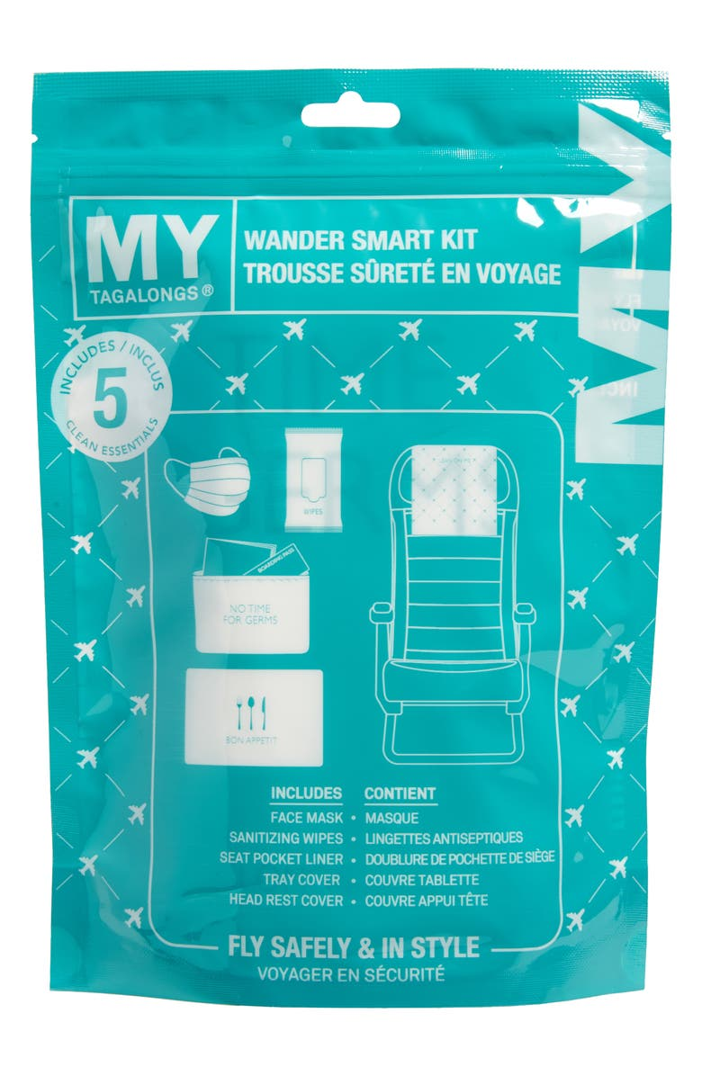 MYTAGALONGS Wander Clean Essentials Travel Kit, Main, color, TEAL